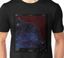 USGS TOPO Map Hawaii HI Anahola 349214 1996 24000 Inverted Unisex T-Shirt