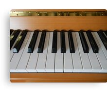 Section of Yamaha Piano Keyboard Canvas Print