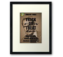 Trick or Treat Poster Framed Print