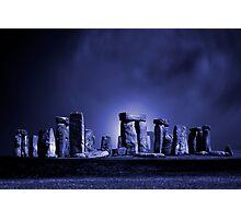 Stonehenge at Night Photographic Print