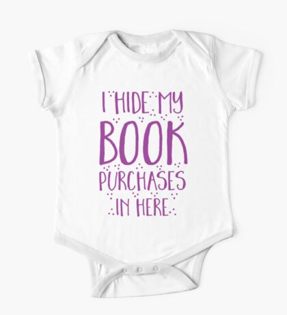 I hide my book purchases in here One Piece - Short Sleeve