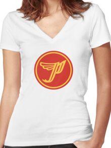 'P' logo Women's Fitted V-Neck T-Shirt