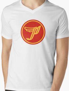'P' logo Mens V-Neck T-Shirt