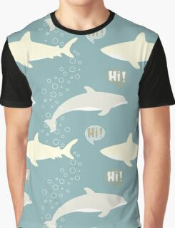 Shark and Dolphin. Graphic T-Shirt