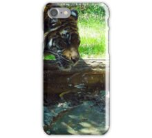 TIGER DRINKING WATER iPhone Case/Skin