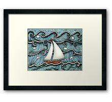 On The Sea by Leslie Berg 2014 Framed Print