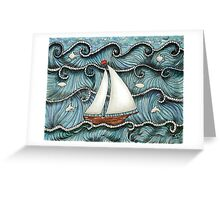 On The Sea by Leslie Berg 2014 Greeting Card