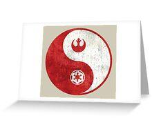 Star Wars Yin-Yang Greeting Card