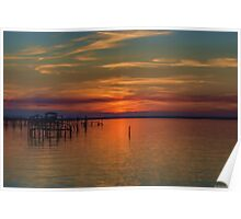 Sunset on the Bay 2 Poster