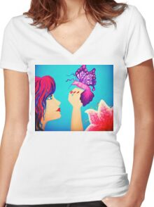 Magical Things Painting Women's Fitted V-Neck T-Shirt