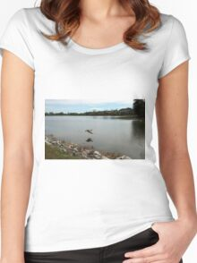Reflections In Flight Women's Fitted Scoop T-Shirt
