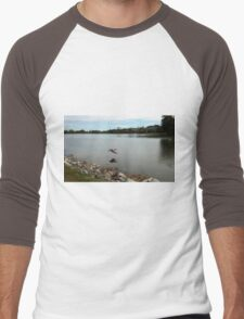 Reflections In Flight Men's Baseball ¾ T-Shirt
