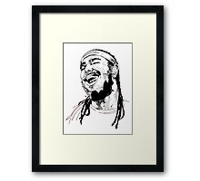Post Malone Drawing Framed Print
