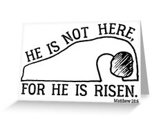 He Is Risen, Matthew 28:6 Greeting Card