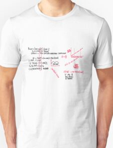 The Drunk Train Equation T-Shirt