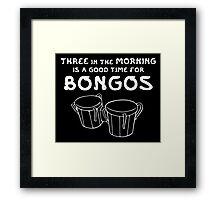 Big Bang Theory - Bongos Framed Print