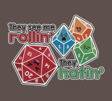 Polyhedral Pals - They See Me Rollin' - They Hatin' - d20 & d10s Baby Tee