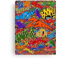 Onomatopoeia Collage #2 (2 of 2) Canvas Print