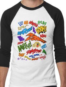 Onomatopoeia Collage #1 (1 of 2) Men's Baseball ¾ T-Shirt