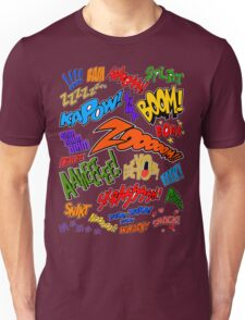 Onomatopoeia Collage #1 (1 of 2) Unisex T-Shirt
