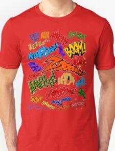 Onomatopoeia Collage #1 (1 of 2) T-Shirt