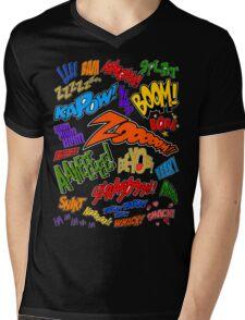 Onomatopoeia Collage #1 (1 of 2) Mens V-Neck T-Shirt