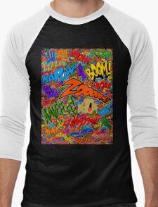 Onomatopoeia Collage #2 (2 of 2) Men's Baseball ¾ T-Shirt