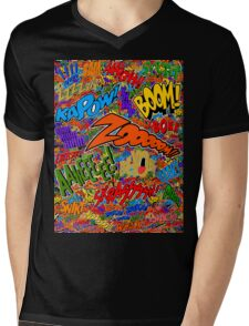 Onomatopoeia Collage #2 (2 of 2) Mens V-Neck T-Shirt