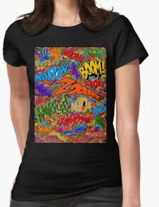 Onomatopoeia Collage #2 (2 of 2) Womens Fitted T-Shirt