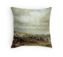 John Constable Chain Pier, Brighton Throw Pillow