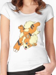 Growlithe Puppy Women's Fitted Scoop T-Shirt
