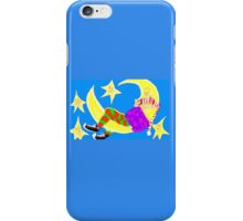 Sleeping On The Moon Surrounded By Stars iPhone Case/Skin