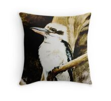 Kookaburra Sits in the Old Gum Tree Throw Pillow