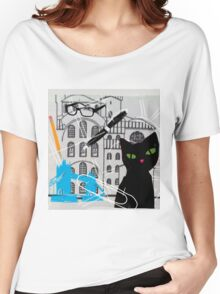 Cat in London Women's Relaxed Fit T-Shirt