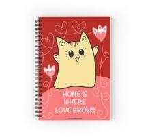 Cute Kawaii Cat Neko Yoko - Home of Love Spiral Notebook