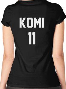 Haikyuu!! Jersey Komi Number 11 (Fukurodani) Women's Fitted Scoop T-Shirt