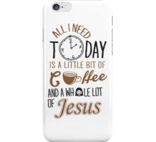 Coffee Jesus Graphic Baseball iPhone Case/Skin