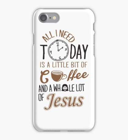Coffee Jesus Graphic Baseball iPhone Case/Skin