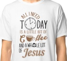 Coffee Jesus Graphic Baseball Classic T-Shirt