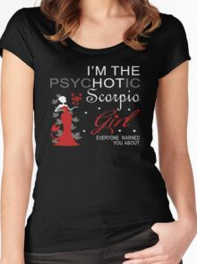 Spychotic Scorpio Girl Women's Fitted Scoop T-Shirt