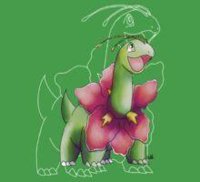 Grass Dinosaur  Baby Tee