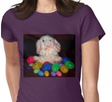Easter bunny and Easter eggs Womens Fitted T-Shirt