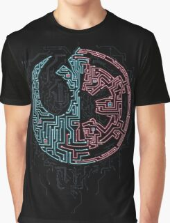 Galaxy Divided Graphic T-Shirt