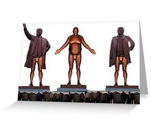 Bill Cosby naked statue North Korea Dictators Greeting Card