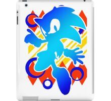 Abstract 90's Sonic iPad Case/Skin
