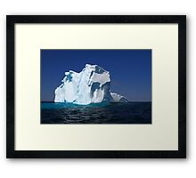 On Iceberg Alley already losses part of its ice mass Framed Print