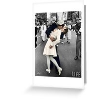 Kiss in Times Square - VE DAY! Greeting Card