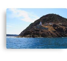 Canadian National Historical Site Fort Amherst, WWII bunkers Canvas Print