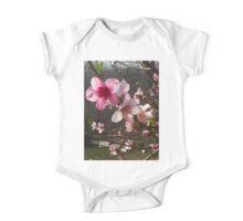 Peach Blossoms One Piece - Short Sleeve