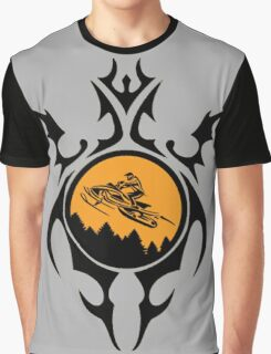 Gnarly Snowmobiling  Graphic T-Shirt